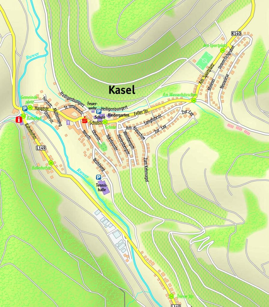Straßenplan_Kasel